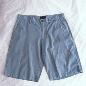 Hurley Mens Flat Front Shorts Blue Size 31